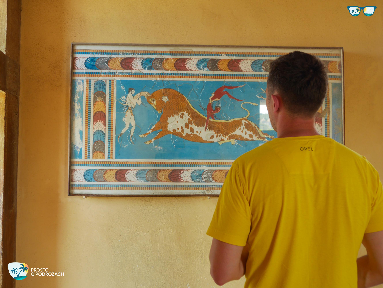 Odrestaurowane malowidła w Knossos