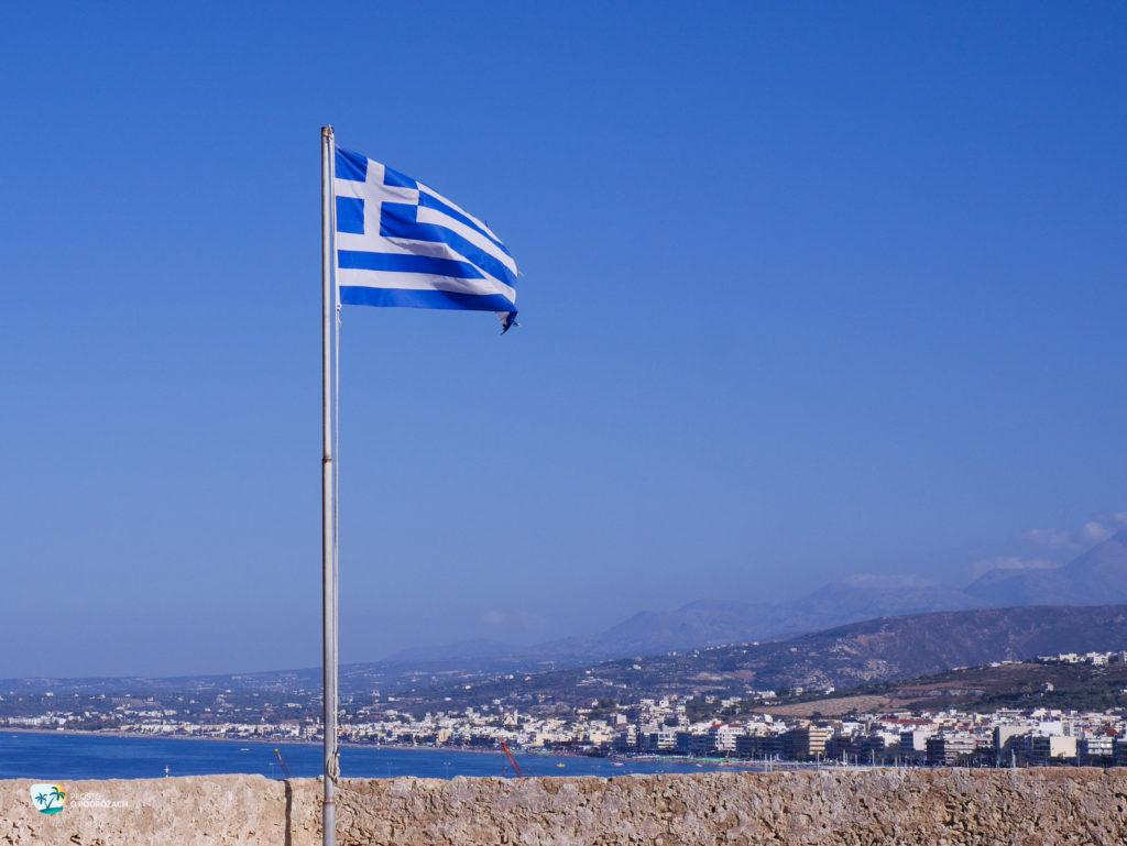 Widok na panoramę Rethymnonu ze słynnej Fortezzy