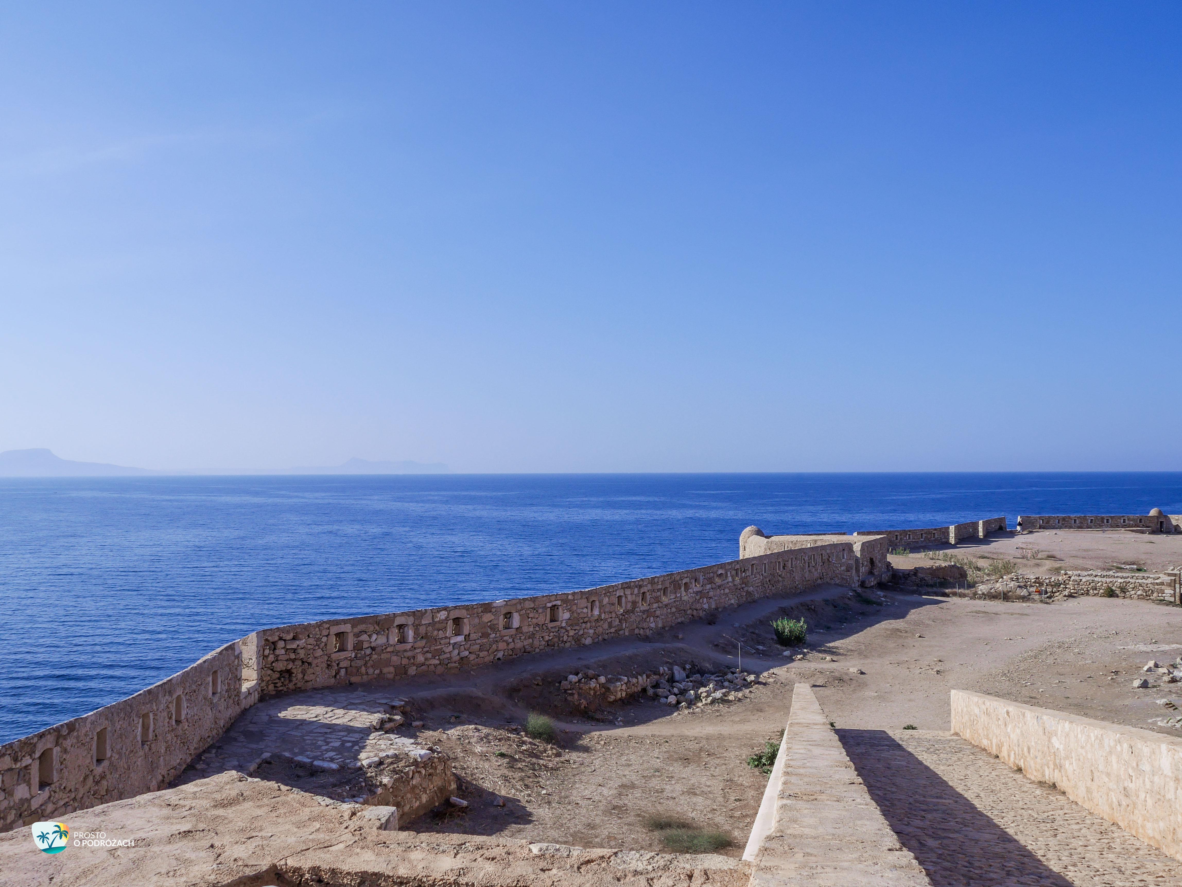 Widok na Morze Egejskie ze szczytu Fortezzy w mieście Rethymnon