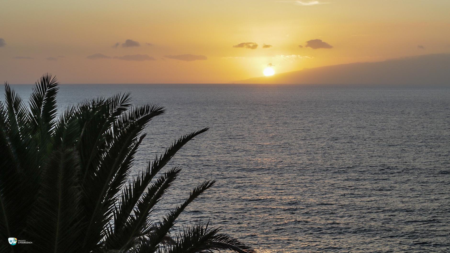 Zachód słońca za La Gomerą