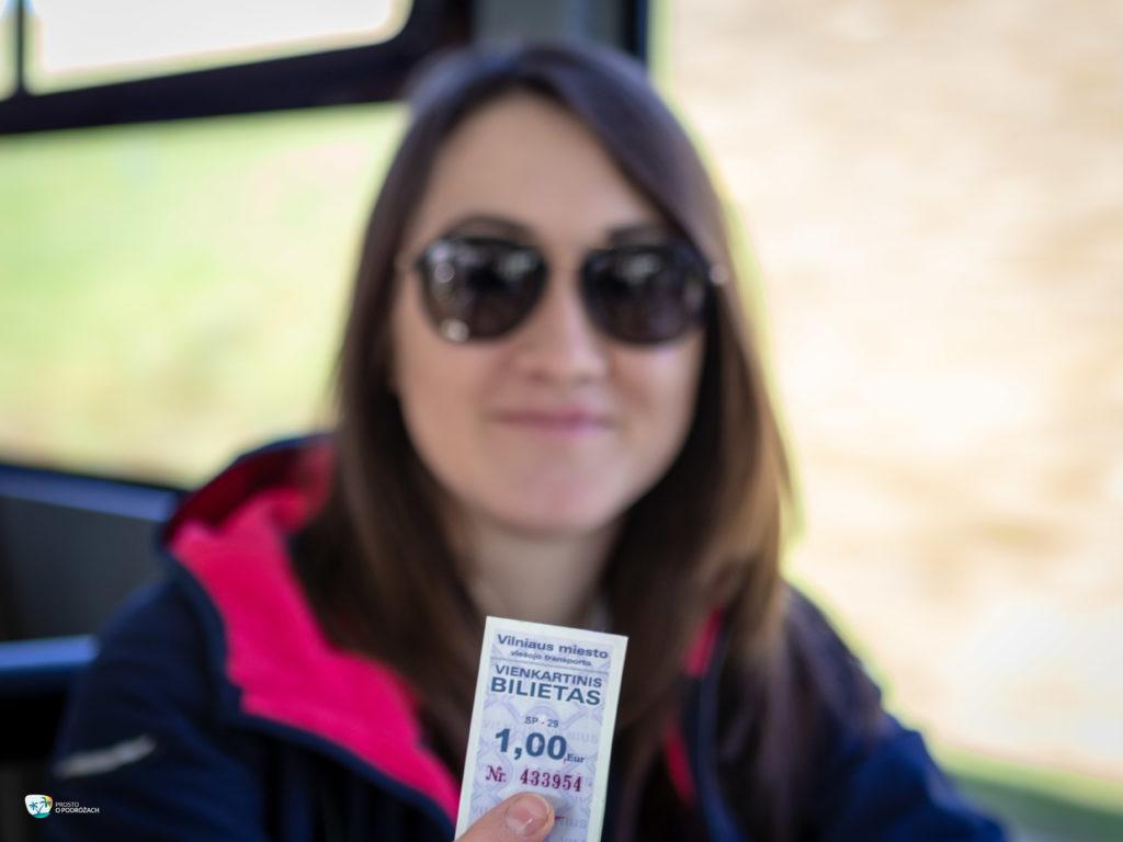 Bilet autobusowy Wilno