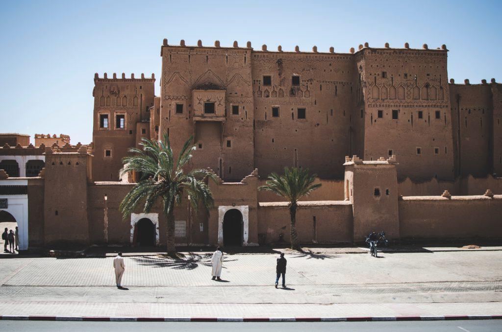 Charakterystyczne zabudowania Maroka