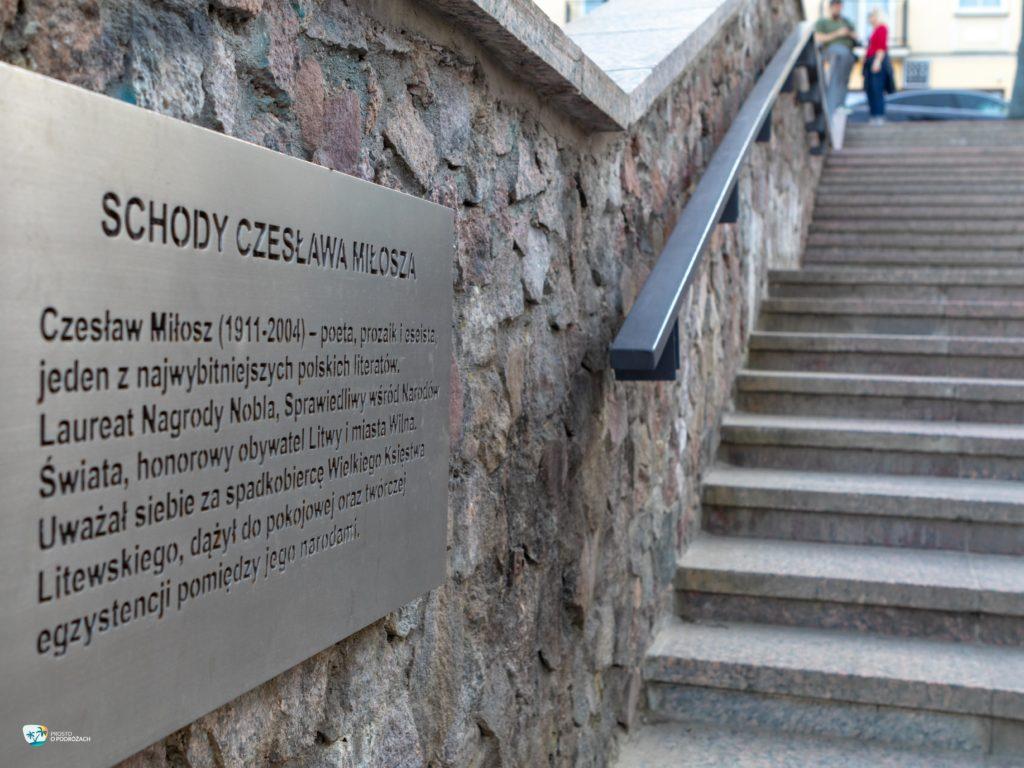 Schody Czesława Miłosza w Wilnie